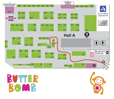 Butterbomb PBC Expo Map