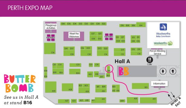 Butterbomb on the Expo Map